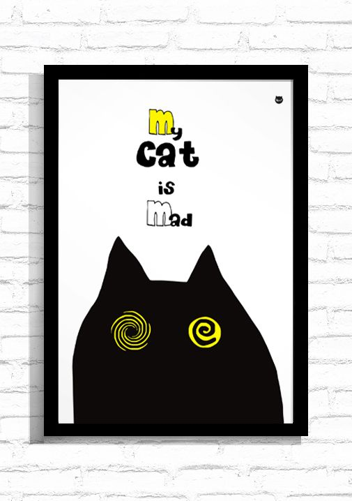 """Grafika """"Mad Cat""""/ Graphic """"Mad Cat"""""""