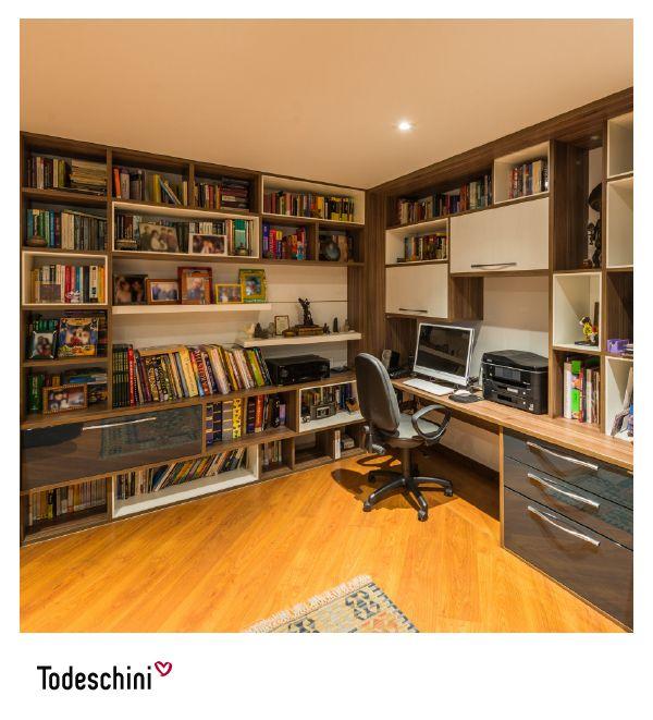 Biblioteca para home office.  #Diseñodeinteriores #Decoración #Todeschini #ambientes #mueblesamedida #arquitectura #cocinas #renovation #interiordesign  #residentialarchitecture #renovacion