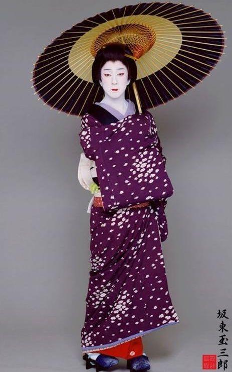 Set D.  Kabuki Actor Tamasaburo Bando.  Japan
