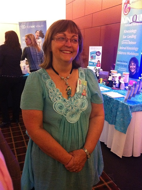 Marney Perna showing off her new Attraxionz magnetic necklace. Marney asked me to convert her very special Seahorse pendant into an Attraxionz magnetic pendant so that she can wear it with her other Attraxionz magnetic fashion jewellery.