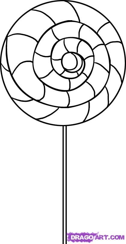 Swirl Lollipop Coloring Page Candy Coloring Pages