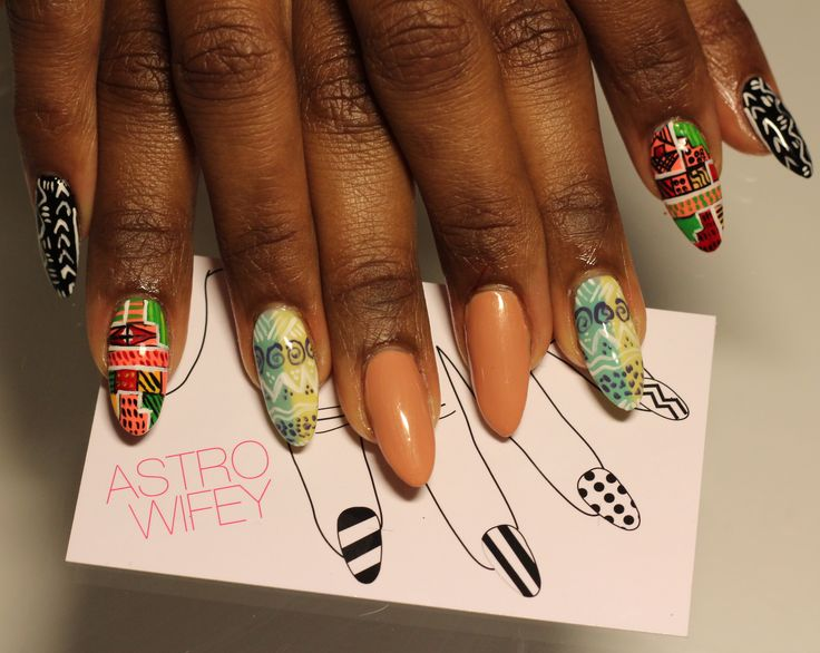 38 best african touch nails images on pinterest africans the print on the pinky prinsesfo Images