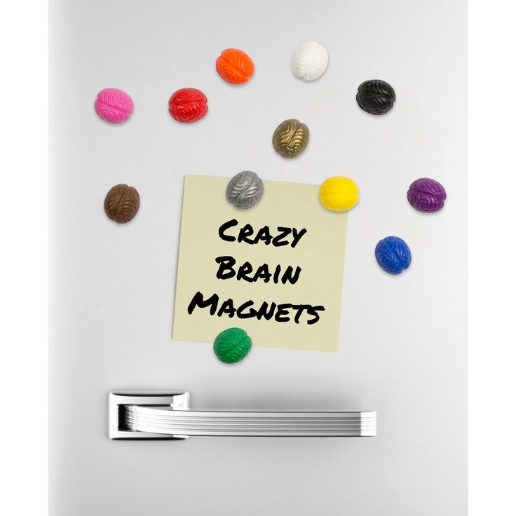 Set mit 12 extra starken, bunten Magneten.
