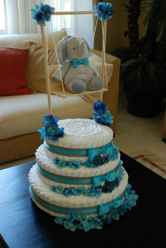 730 best diaper cakes and more images on pinterest diaper cakes baby shower bow tie theme turquoise and gray elephant diaper cake created by cyd haltom publicscrutiny Image collections
