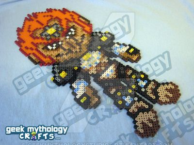 """One of our updated """"Chibishous"""". This sprite design does not appear in any game - he was custom-designed by ~vilsy and ~Jhex of Geek Mythology Crafts. Please do not copy, repost, or resell our desi..."""