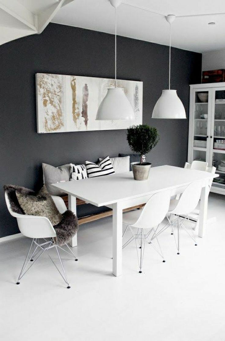 10 Modern Black And White Dining Room Sets That Will Inspire You