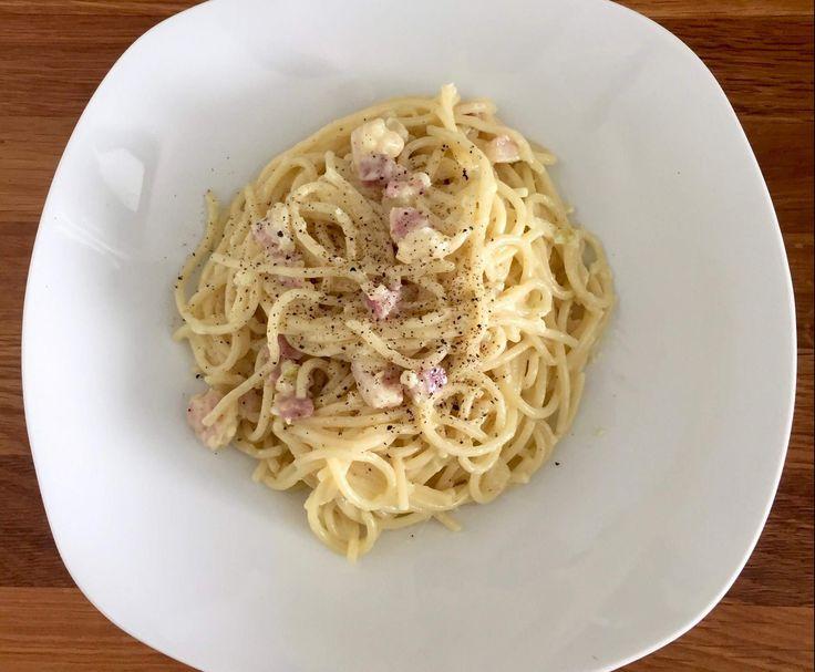Rezept Spaghetti Carbonara ohne Ei von Greta1403 - Rezept der Kategorie…