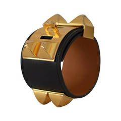 Collier de Chien black Gold Hardware