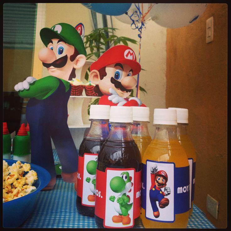 Mesa de dulces Mario Bros