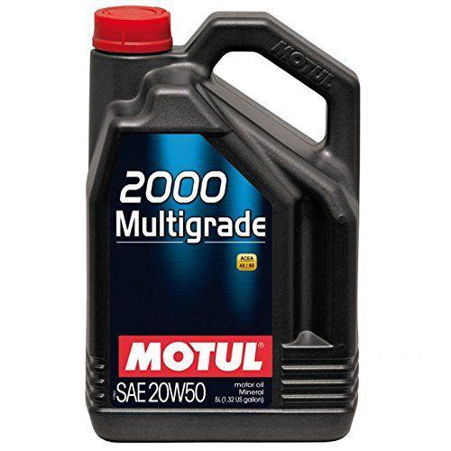Huile Moteur Motul 2000 Multigrade 20W50 – Bidon de 5 L: L'huile Moteur Motul 2000 Multigrade 20W50 est un lubrifiant minéral…