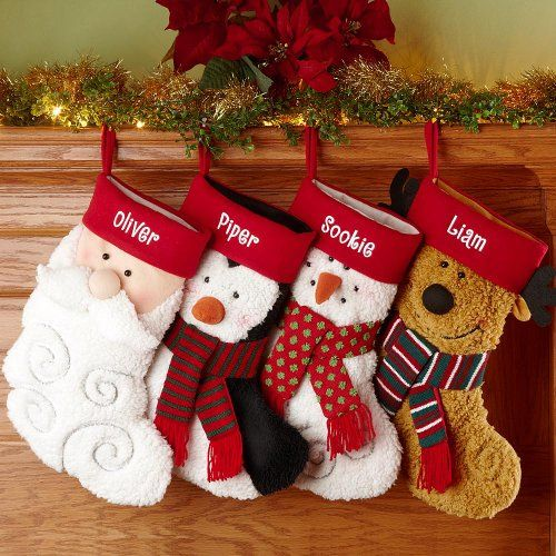 Personalized Furry Friends Stockings   Christmas Stockings...an extra stocking will be placed by the fireplace at my uncle's mantle for my soul mate :)