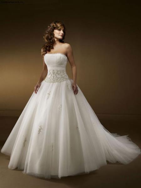 Свадебное платье без бретелек фото