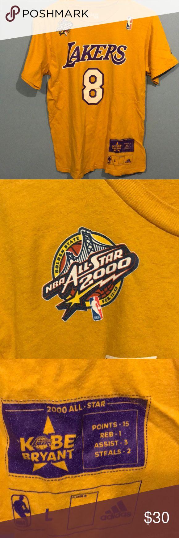 Vintage Kobe Bryant Shirt Vintage 2000 All Star Kobe Bryant shirt size medium good condition rare adidas Shirts Tees - Short Sleeve