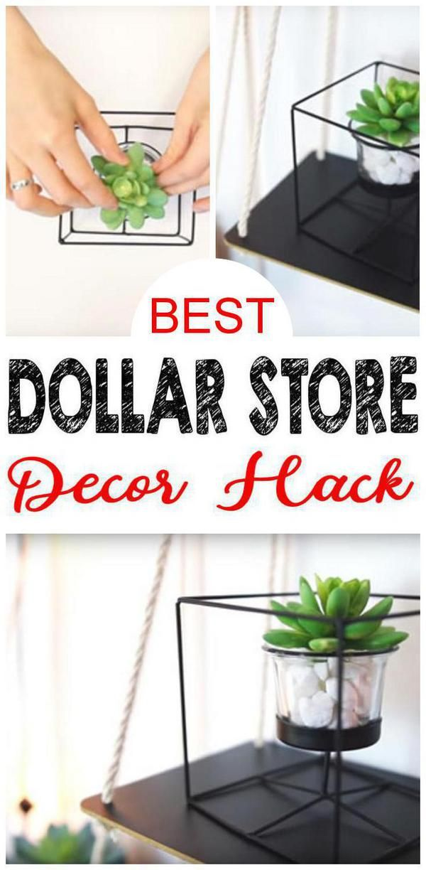 Dollar Store Hack For The Best Home Decor Easy Diy Dollar Tree Craft Project Idea Make Diy Kids Room Decor Diy Dollar Store Crafts Projects Diy Office Decor