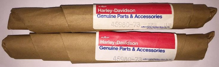 #harley 2 OEM Harley Davidson Shovelhead Sportster Kayaba Fork Damper Tube Set 45980-73 please retweet
