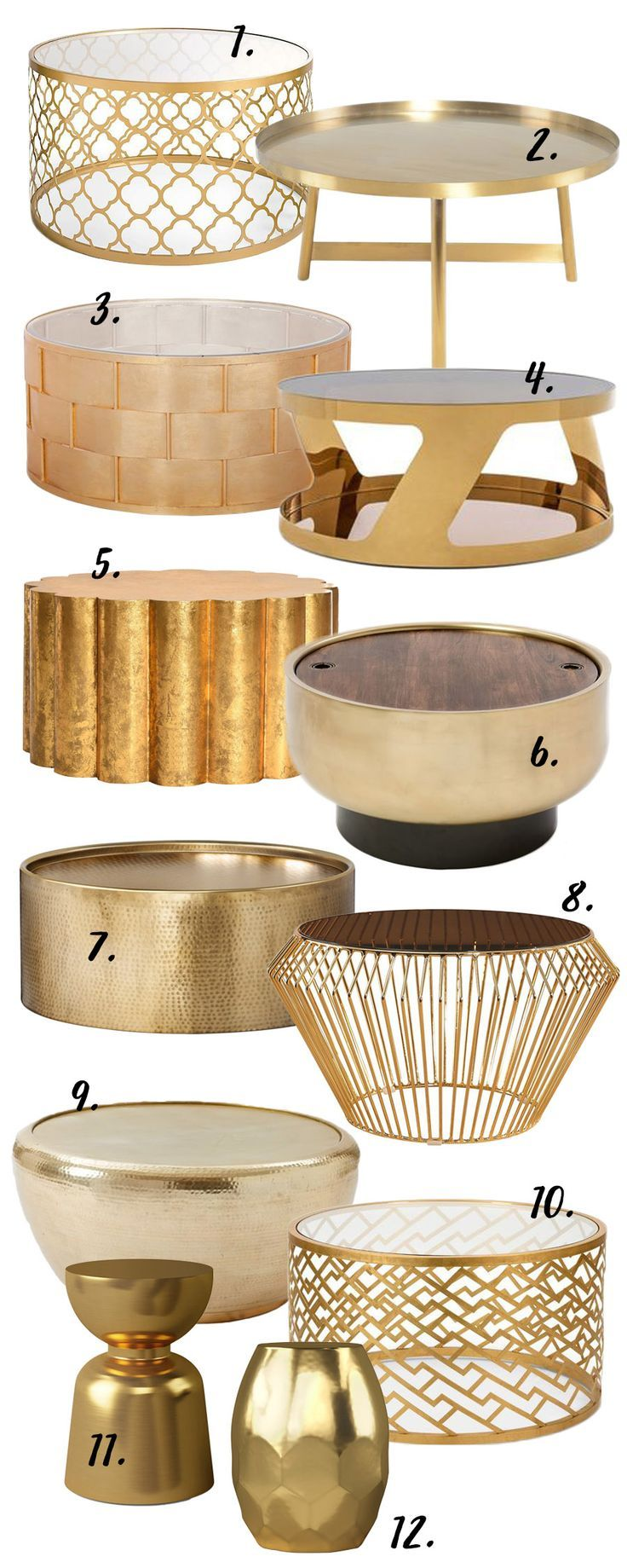 The Gold Round Coffee Table 12 Stylish Options