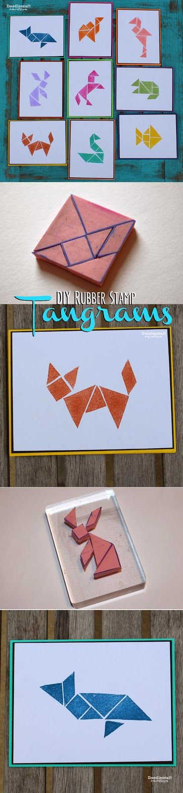 DIY create your own tanagram stamps. Great gift idea.