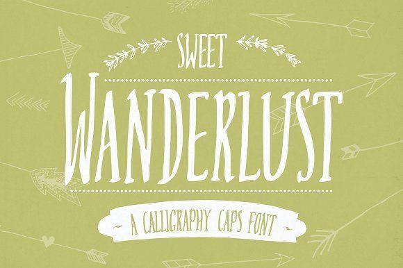 Sweet Wanderlust Font by The Pen & Brush on @creativemarket