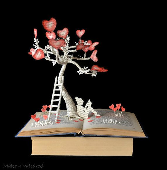 The Tree of Love  Book Art  Book Sculpture  by MalenaValcarcel, €347.00