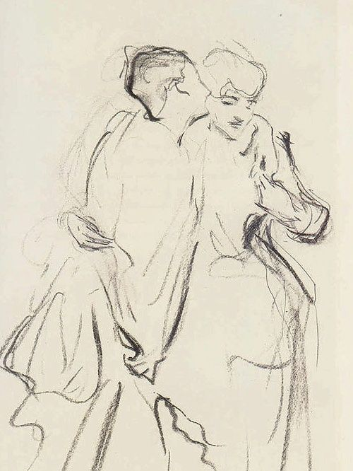 Whispers by John Singer Sargent (USA)