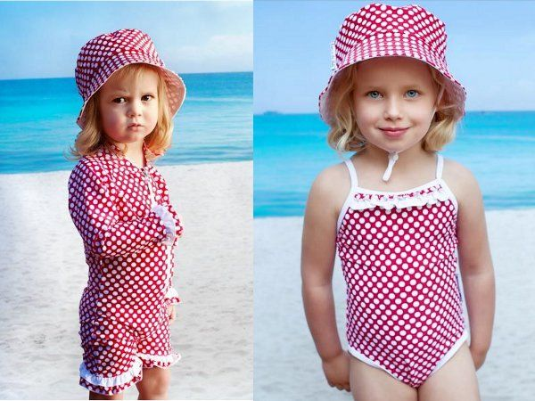 Fashionable kids' swimwear from Babes In The Shade