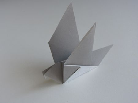 Origami Pigeon Folding Instructions - How to Make an Origami Pigeon