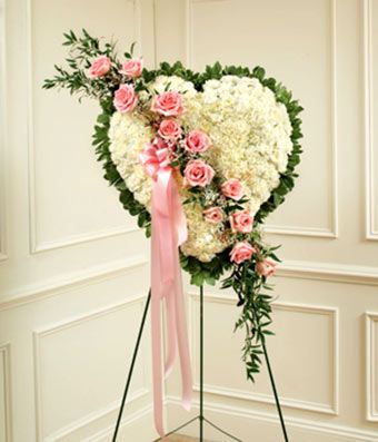 Gallery For > Funeral Flower Arrangements Heart