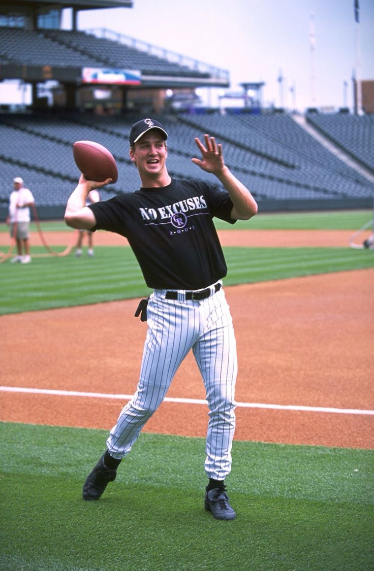 Peyton Manning with the Colorado Rockies