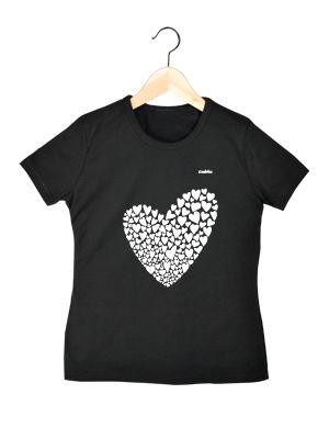Camiseta en algodón orgánico para chica en color negro Valentina   www.strambotica.es
