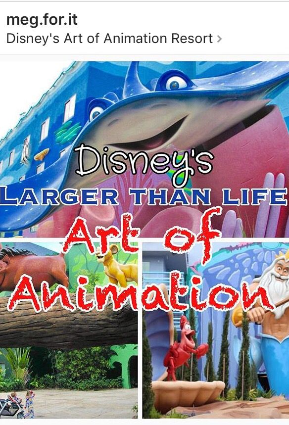 Disney world Art of Animation Resort