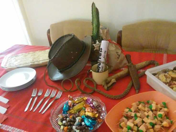 Western themed party decor