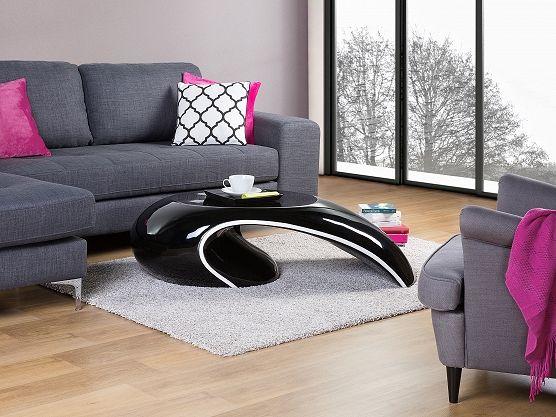 Coffee table- Living room - Fiberglass - Black - ELATUS