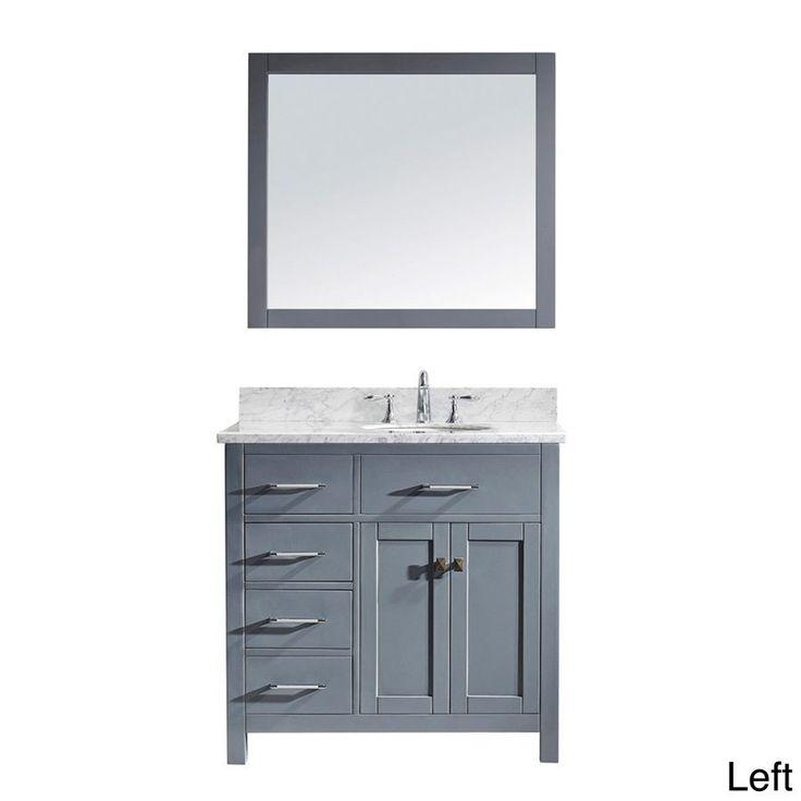 Pictures In Gallery Virtu USA Caroline Parkway inch Grey Single Bathroom Vanity Cabinet Set