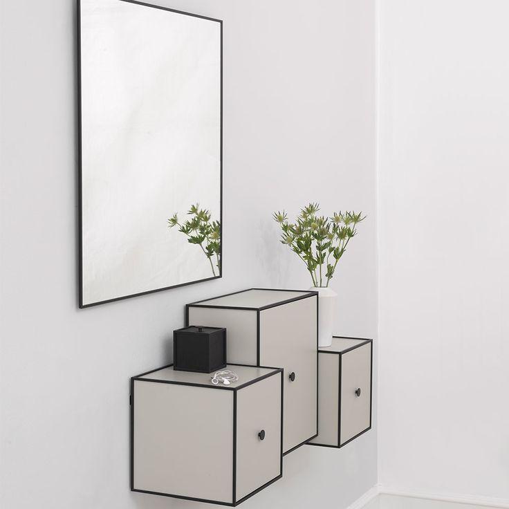 View Spegel 70x70cm, Svart - by Lassen - by Lassen - RoyalDesign.se