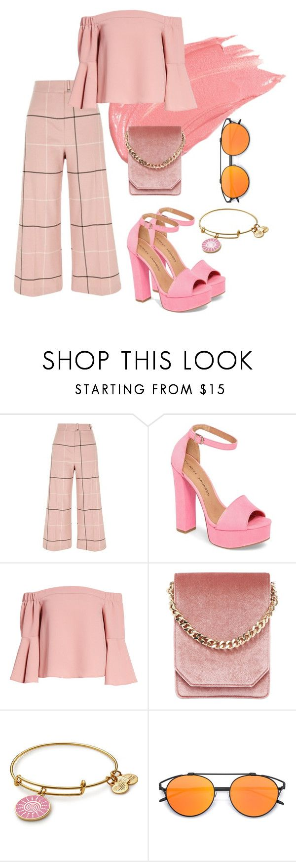 """""""Pretty in pink"""" by fandom-trash-stan on Polyvore featuring River Island, Chinese Laundry, Topshop and Cafuné"""