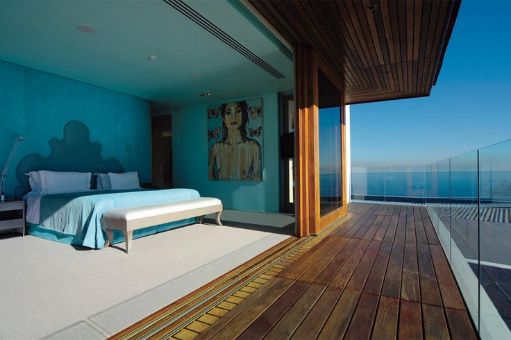 One of the stunning bedrooms in the luxury EH - Villa One, that is located in #BantryBay in #CapeTown, perfect for a stunning #SouthAfrican #Vacation!
