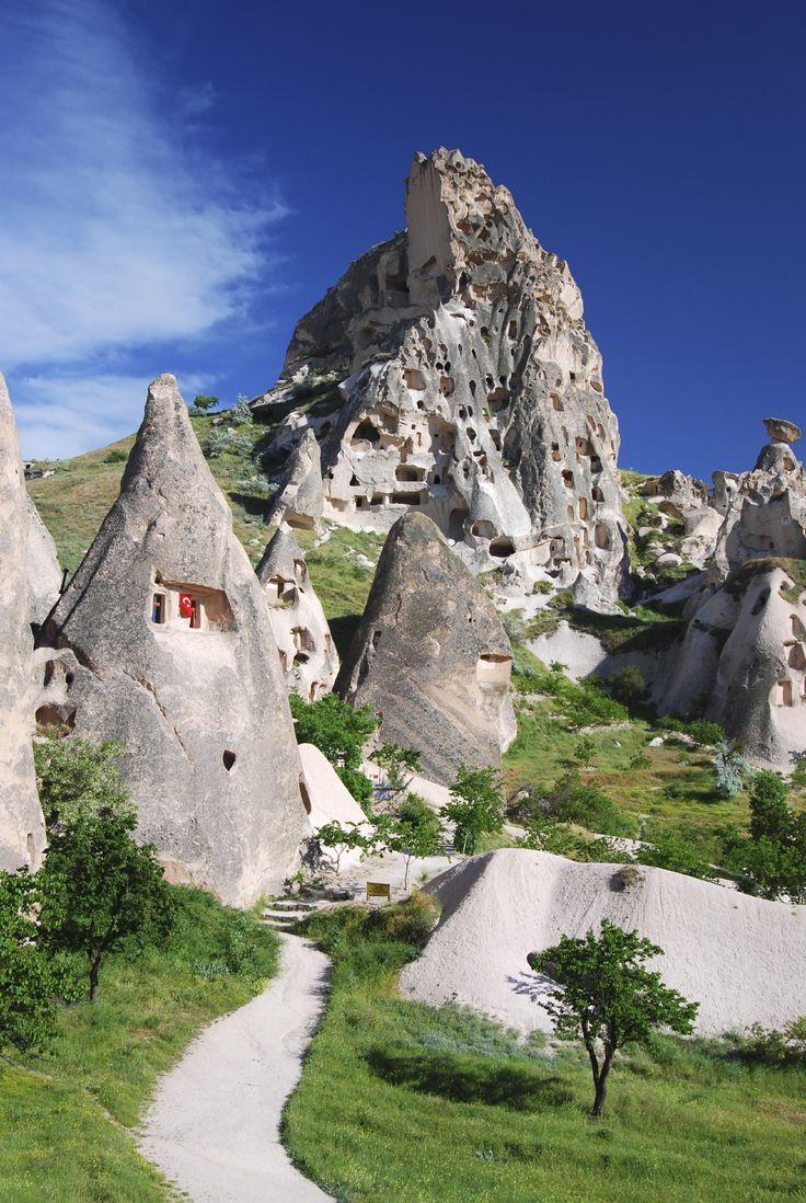 Cappadocia stone village in Turkey.