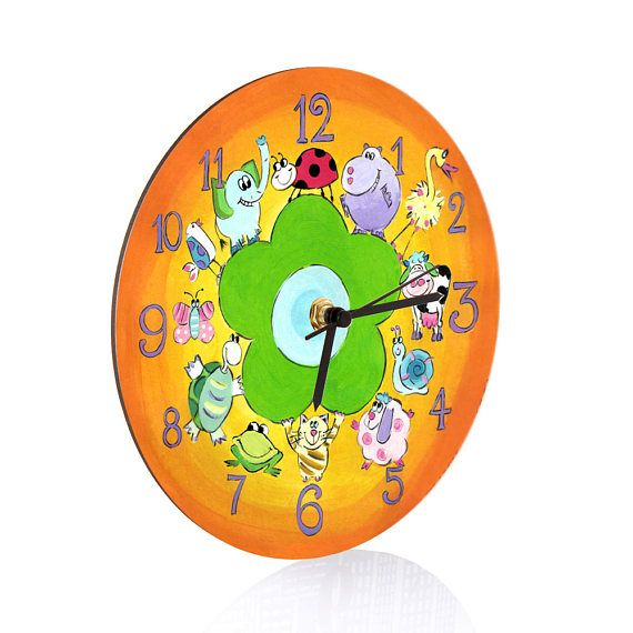 Kids Wall Clock  Nursery Clock  Nursery Wall Clock