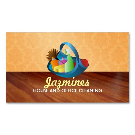 House Cleaning Business Cards Design