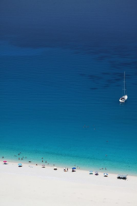 Myrtos Beach, Kefalonia, Greece.