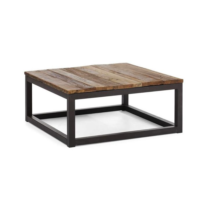 Modern Industrial Square Coffee Table | dotandbo.com