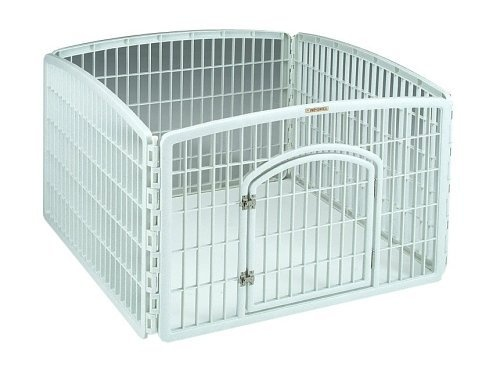 Iris CI-604 Indoor/Outdoor Plastic Pet Pen, 4 Panels by Iris,