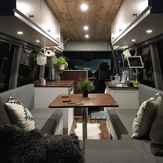 WOW! Stunning #van interior by @sprint2explore! #vanlife #rvgems #rvlife #homeiswhereyouparkit #rvliving #liveriveted #wanderlust #fulltimerv #camplife #travel #outdoors #nature #travelusa #wandering #nomad #boondocking #roadtrip #gorving #gypsy