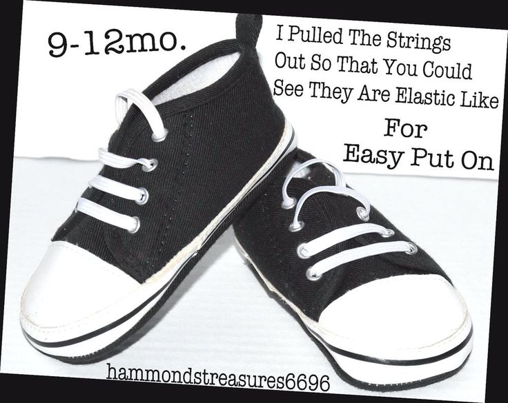 Baby Shoes Chuck Taylor Wanna Be So Cute Size 9-12mo. Easy Slip On Elastic Ties #ChuckTaylorWannaBes