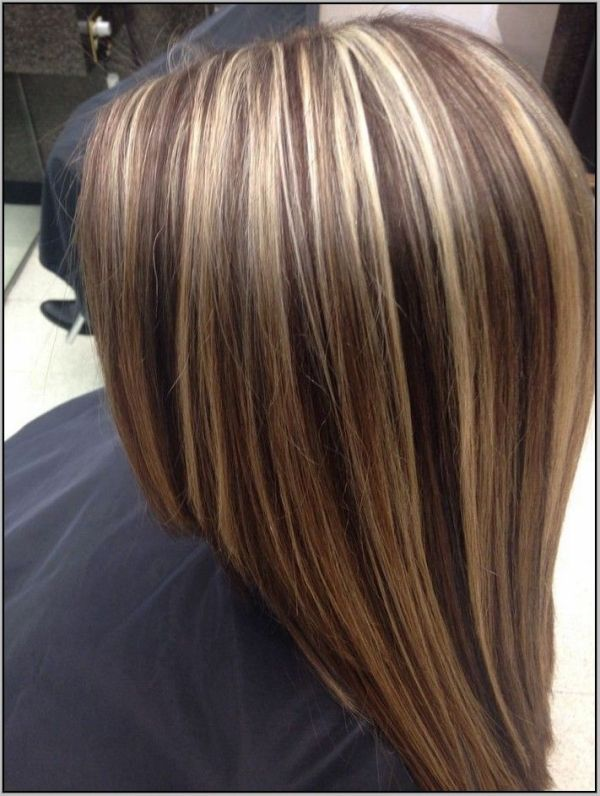 brown hair with chunky blonde and auburn highlights google search by suzette - Auburn Hair Color With Blonde Highlights