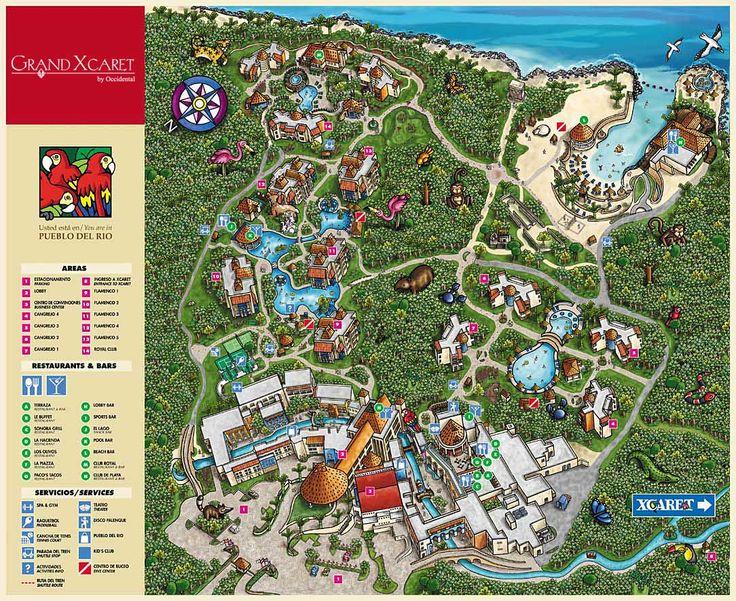 Grand Xcaret Tourist Map - Playa del Carmen • mappery