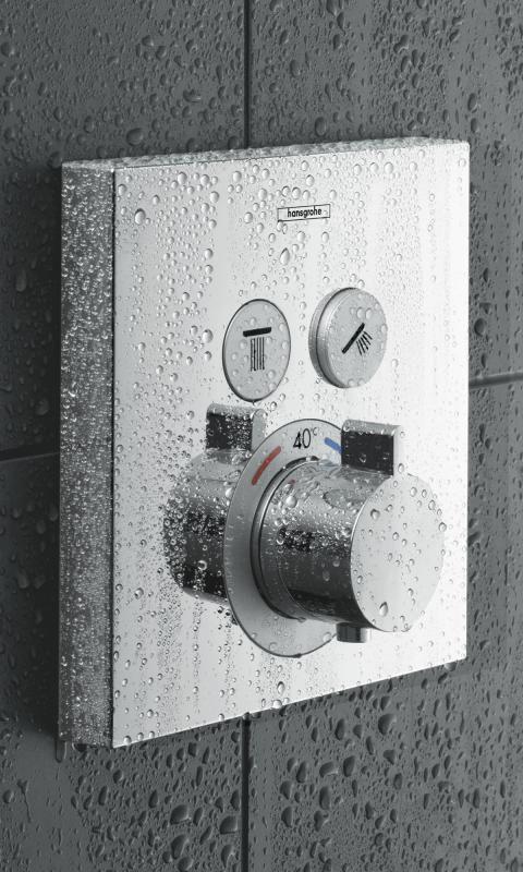 Hansgrohe ShowerSelect Thermostat: Handbrause, Kopfbrause, Seitenbrause oder Schwallauslauf? Wählen Sie nach Belieben 2 Verbraucher aus und kombinieren Sie sie mit dem ShowerSelect Thermostat. Sie haben die Wahl, ob Sie die beiden Verbraucher einzeln oder gemeinsam ansteuern möchten. #thermostat #dusche #shower #rainshower #bad #badezimmer #bathroom #hansgrohe #showerselect #interior #interiordesign #modern #bath #bathtime #relax #chill #bathing #reuter #reuterde