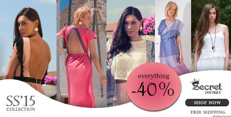 S A L E S -40% !!! SHOP NOW at www.secretboutique.gr