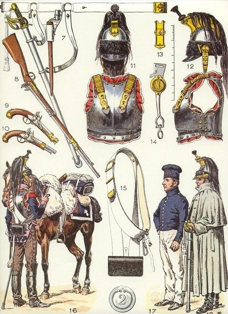 French Cuirassiers equipment / Lucien Rousselot