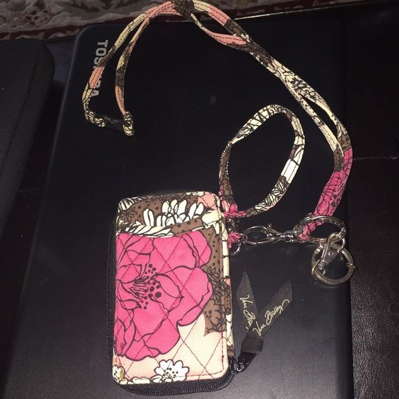 Vera Bradley Wallet and Lanyard Wallet and Lanyard. With key ring. Barley used. Great condition Vera Bradley Bags Wallets